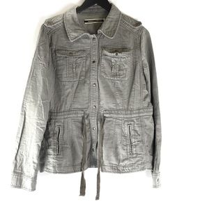 Anthro Daughters Of Liberation Grey Utility Jacket